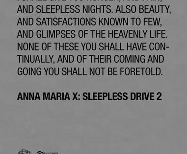 Anna Maria X - Sleepless Drive 2