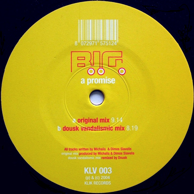 """klv003 B.I.G. – A Promise 12"""" Vinyl"""