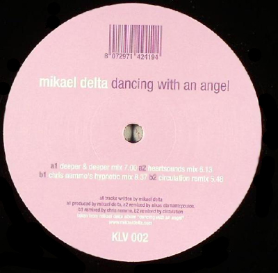 """klv002 Mikael Delta – Dancing With An Angel 12"""""""