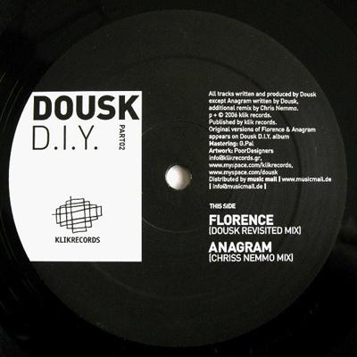 """klv007 Dousk Diy Pt2  12"""" Vinyl"""